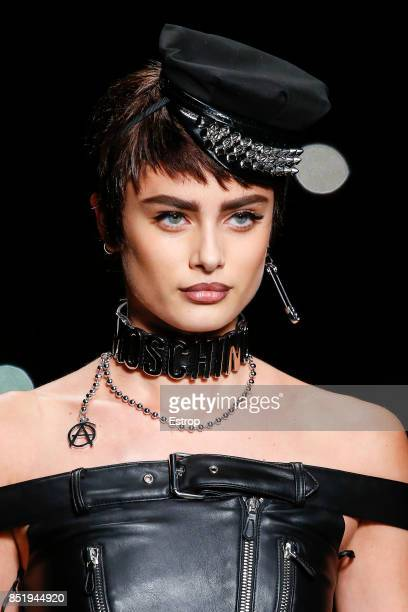 Beauty Detail at the Moschino show during Milan Fashion Week Spring/Summer 2018 on September 21 2017 in Milan Italy