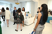 Beauty editors attend Dermarche Labs Launch of New AM PM Beauty Serum BioREWIND At 24th Street Loft Editor Event on June 23 2016 in New York City