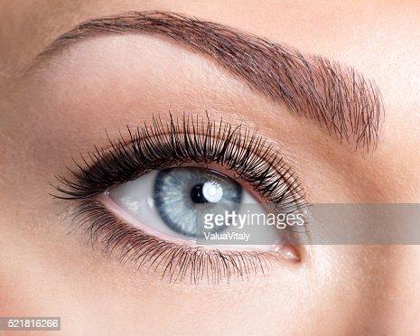 Bellezza occhio femmina con curl ciglia lunghe falso : Foto stock