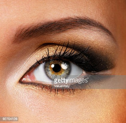Beauty golden-brown make-up : Stock Photo