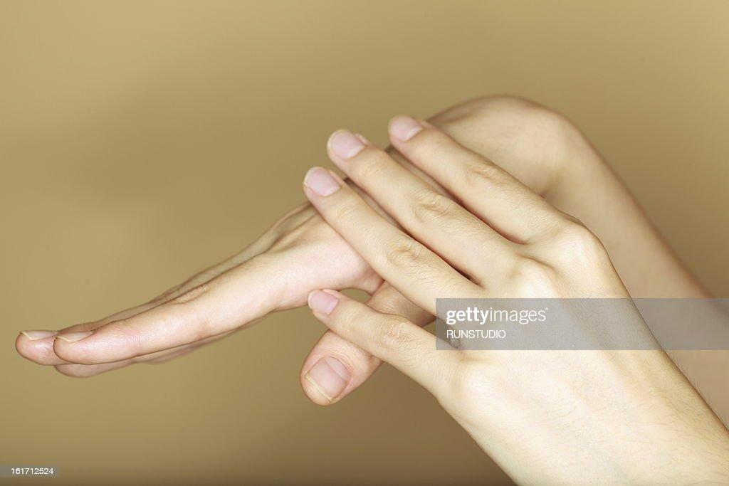 beauty hand : Stock Photo