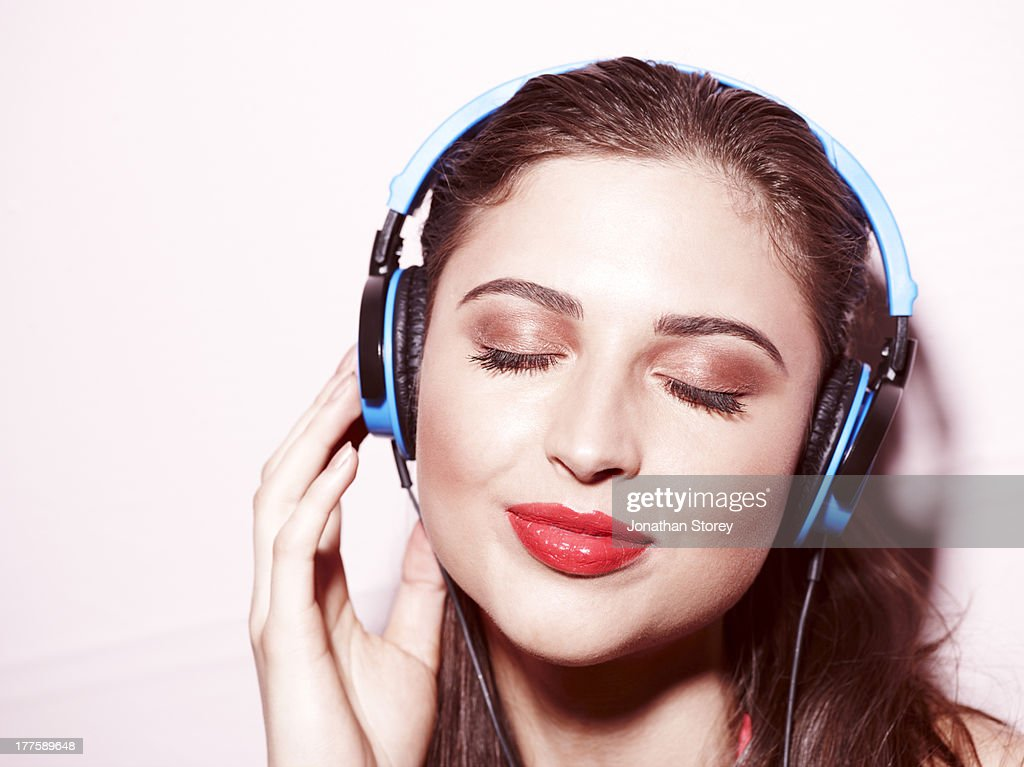 Beauty headphones : Stock Photo