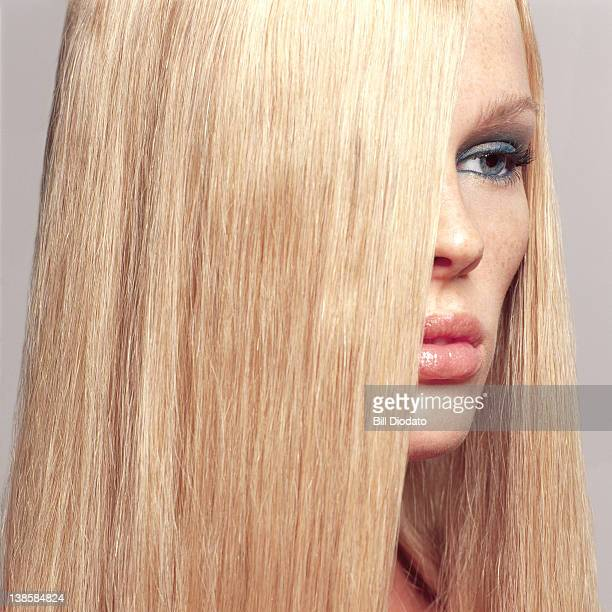 Beauty image of young girl with blond hair