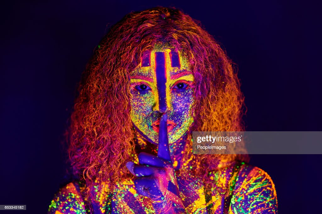 Beauty in neon : Stock Photo