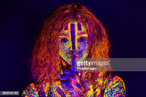 Beauty in neon : Stock-Foto