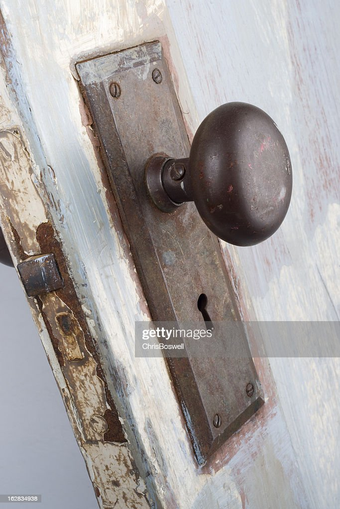 Beauty In The Old Antique Door Knob And Latch : Stock Photo