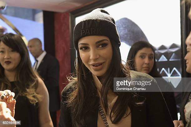Beauty influencer Sananas attends the Kat Von D Beauty opening weekend with influencers at Sephora ChampsElysees on January 23 2017 in Paris France