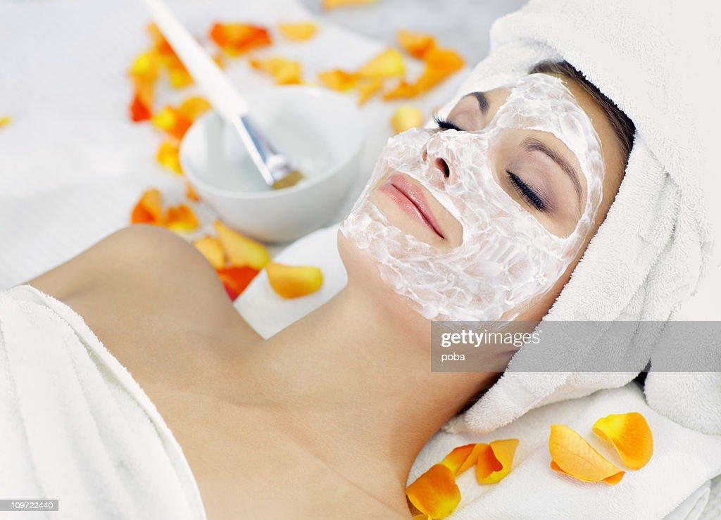 beauty mask : Stock Photo