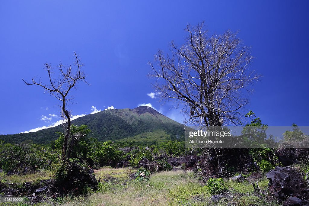 Beauty of Mt Gamalama : Stock Photo