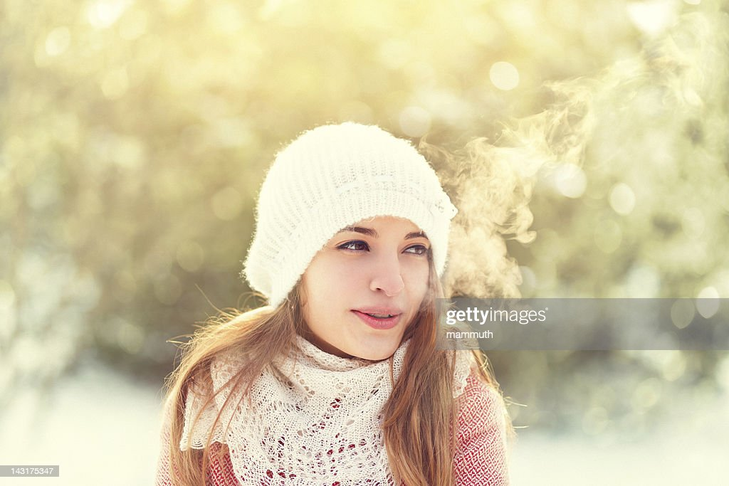 beauty on cold winter day