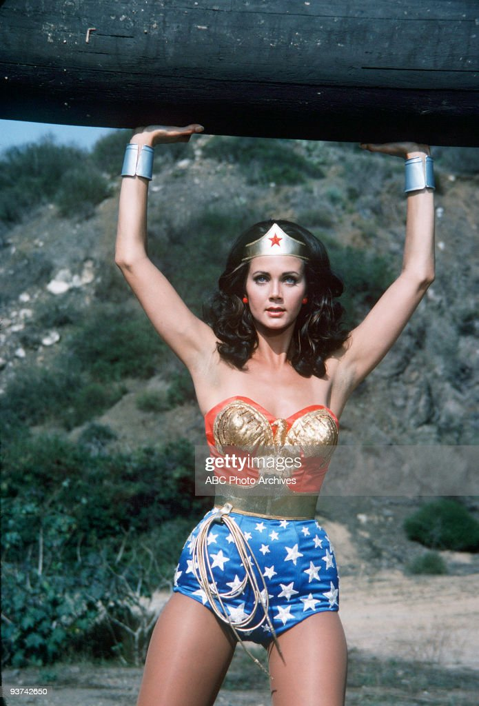 WOMAN - 'Beauty on Parade' - Season One - 10/13/76, Wonder Woman (<a gi-track='captionPersonalityLinkClicked' href=/galleries/search?phrase=Lynda+Carter&family=editorial&specificpeople=215112 ng-click='$event.stopPropagation()'>Lynda Carter</a>) infiltrated a dangerous sabotage ring operating during a beauty contest. ,