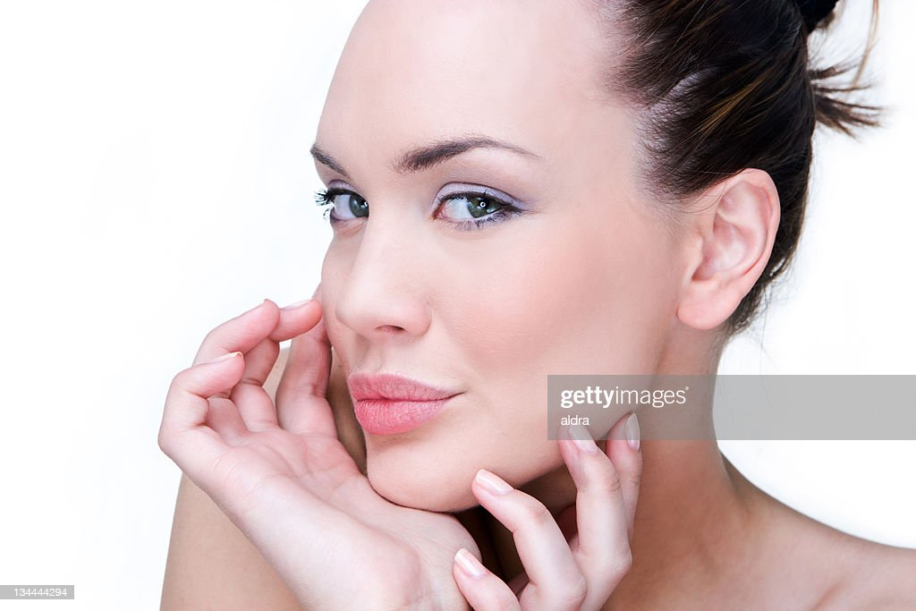 Beauty on white : Stock Photo