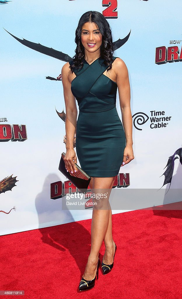 Beauty pageant contestant Sarodj Bertin attends the premiere of Twentieth Century Fox and DreamWorks Animation 'How to Train Your Dragon 2' at the Regency Village Theatre on June 8, 2014 in Westwood, California.