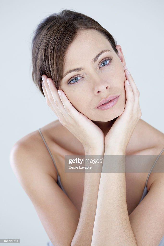Beauty portrait of a woman : Stock Photo