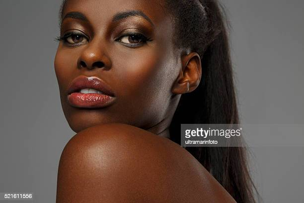 Beauty portrait of beautiful  young african ethnicity woman