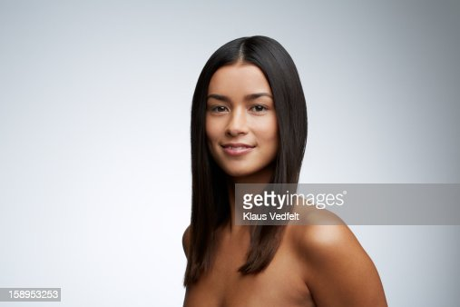 Beauty portrait of woman smiling to camera