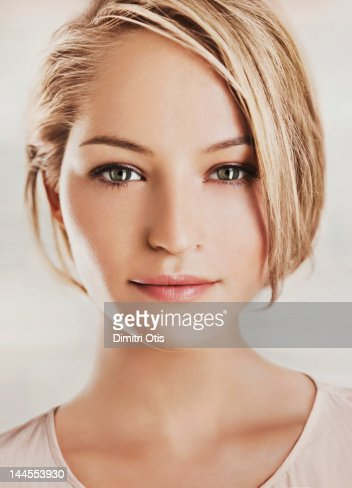 Beauty portrait of young blonde woman