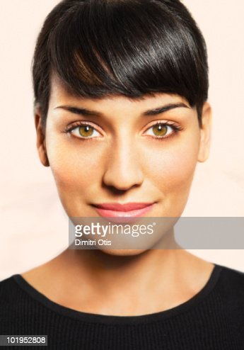 Beauty portrait of young woman smiling : Stock Photo