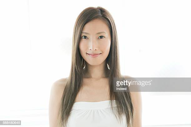 Beauty portrait of young woman, smiling