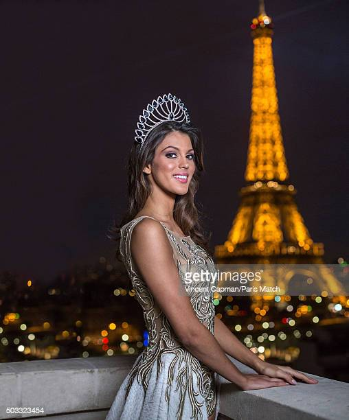 Beauty queen and winner of Miss France 2016 Iris Mittenaere is photographed for Paris Match on December 20 2015 in Paris France