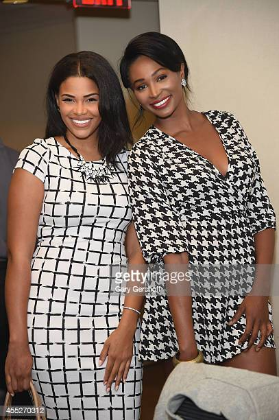Beauty queen Kamie Crawford and Miss USA 2012 Nana Meriwether attend Annual Charity Day Hosted by Cantor Fitzgerald and BGC at BGC Partners INC on...
