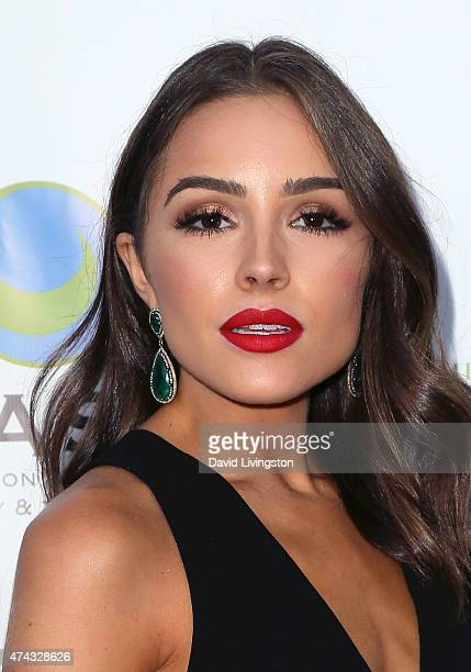 Beauty queen Olivia Culpo attends the 17th Annual CAST From Slavery to Freedom Gala at the Skirball Cultural Center on May 21 2015 in Los Angeles...
