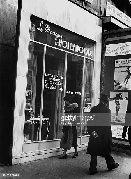 Beauty Saloon On Royale Street On May 1938 In Paris