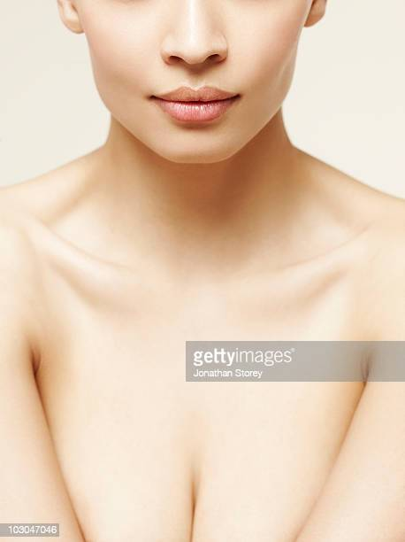 Beauty shot, natural skin  Lips