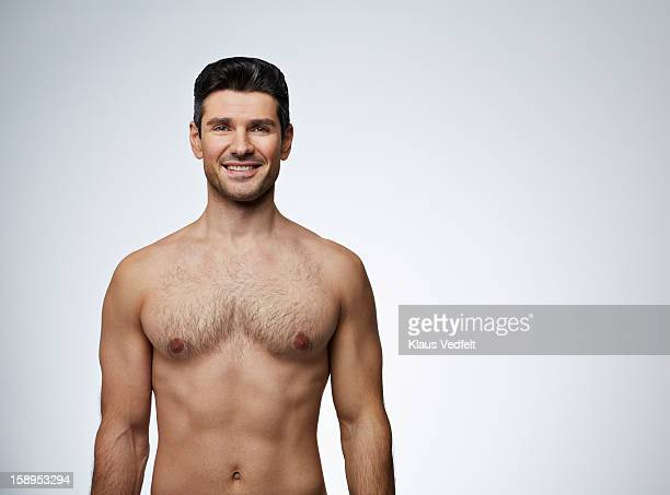 Beauty shot of man smiling to camera