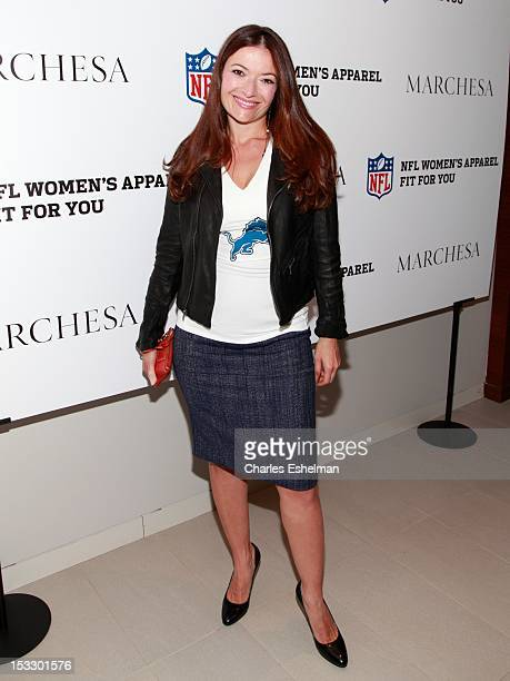 Beauty stylist Eva Scrivo attends the Limited Edition Marchesa/NFL Collaboration Launch at National Football League on October 2 2012 in New York City