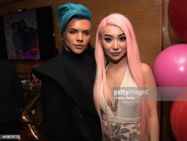 Beauty vloggers Gabriel Zamora and Nikita Dragun attend Vanity Fair and L'Oreal Paris Toast to Young Hollywood hosted by Dakota Johnson and Krista...