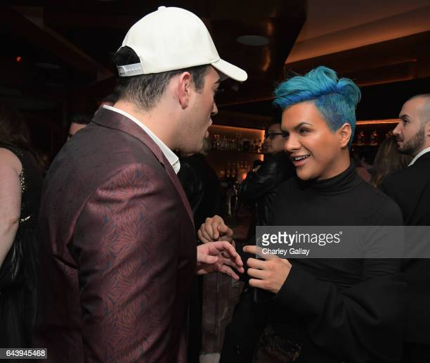 Beauty vloggers Manny Mua and Gabriel Zamora attend Vanity Fair and L'Oreal Paris Toast to Young Hollywood hosted by Dakota Johnson and Krista Smith...