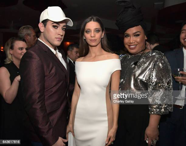 Beauty vloggers Manny Mua and Patrick Starrr and actor Angela Sarafyan attend Vanity Fair and L'Oreal Paris Toast to Young Hollywood hosted by Dakota...