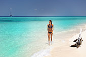 Beauty walking down the Beach on a secluded Island (XXXL)