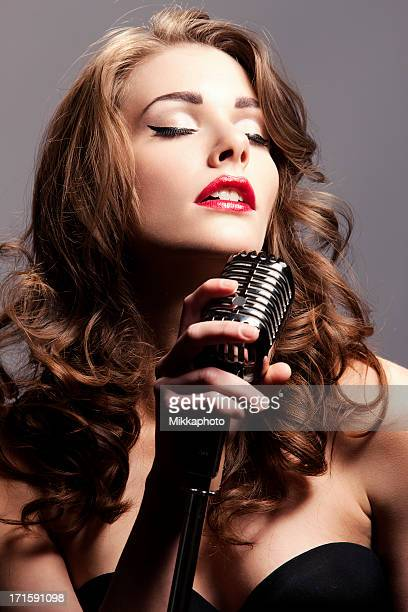 Beauty with a microphone