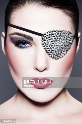 Beauty with Swarovski Eye Patch