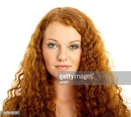 beauty young redhead woman