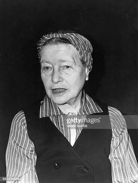 Beauvoir Simone de *Schriftstellerin Feministin Philosophin Frankreich Portrait undatiert