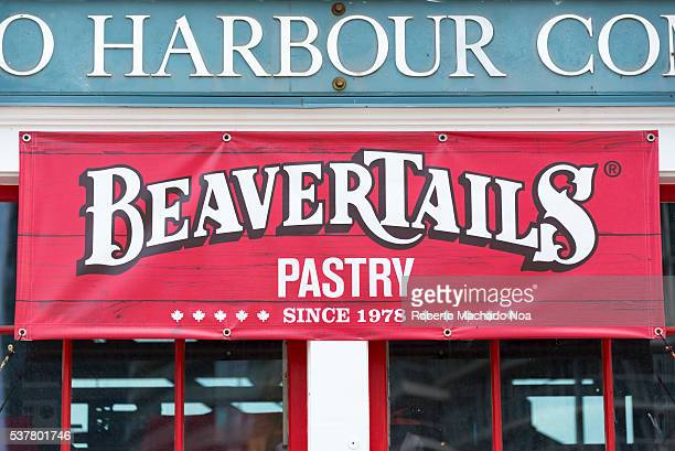 BeaverTails store entrance at the Toronto Harbour Commissioners bulding or Pier 6 The pastry is traditional Toronto sweet The building is the oldest...