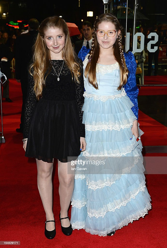 Bebe (L) and Jessica Cave attend the Closing Night Gala of 'Great Expectations' during the 56th BFI London Film Festival at Odeon Leicester Square on October 21, 2012 in London, England.