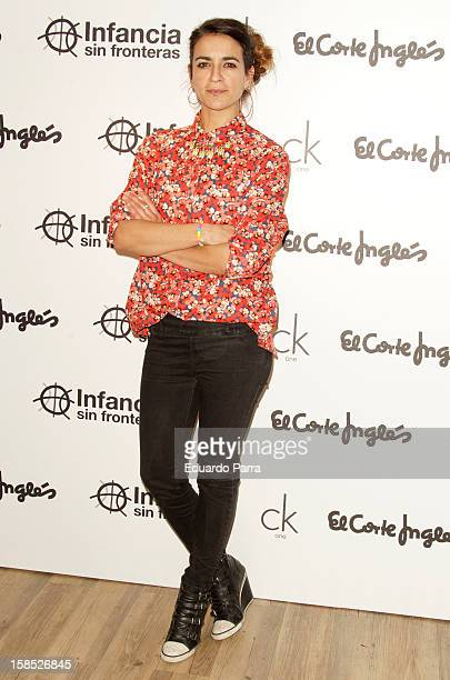 Bebe attends Infancia sin fronteras charity calendar photocall at El Corte Ingles store on December 18 2012 in Madrid Spain