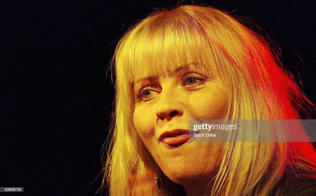 Bebe Buell performs on stage during 'Life's A Gas' at The Annual Joey Ramone Birthday Bash on May 19, 2004 at Irving Plaza, in New York City.