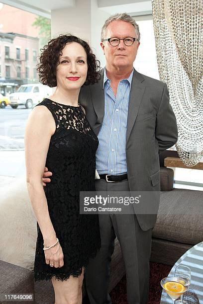 Bebe Neuwirth and Chris Calkins attend the grand opening celebration at Cleo Spa and Salon on June 29 2011 in New York City