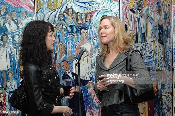 Bebe Neuwirth and Rebecca Luker Artist Jessica Daryl Winer unveiled Sardi's Screens a series of seven panels depicting Broadway stars past and...