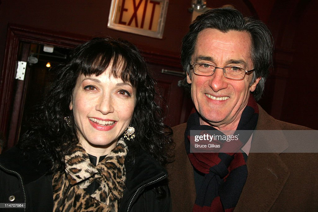Bebe Neuwirth and Roger Rees during Sarah Jones' 'Bridge and Tunnel' Broadway Opening Night Arrivals at Helen Hayes Theatre in New York City New York...