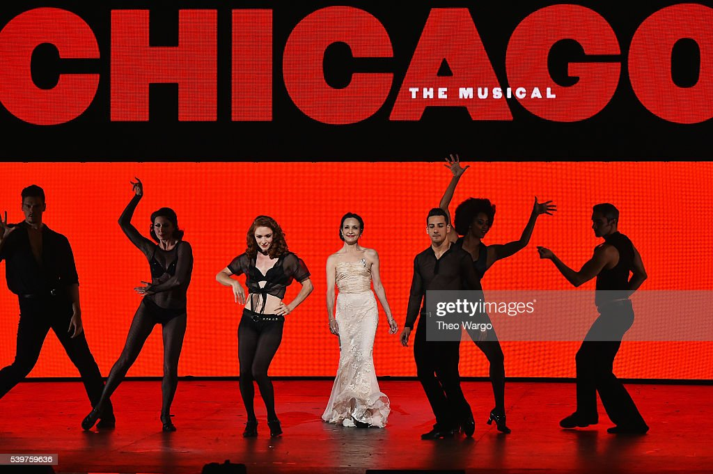 Bebe Neuwirth and the cast of 'Chicago' perform onstage during the 70th Annual Tony Awards at The Beacon Theatre on June 12 2016 in New York City