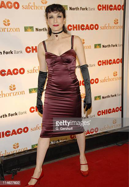Bebe Neuwirth during Chicago the Musical Celebrates its 10th Anniversary on Broadway Arrivals at Ambassador Theater in New York City New York United...