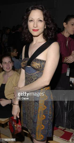 Bebe Neuwirth during MercedesBenz Fashion Week Spring 2004 Vivienne Tam Front Row at Bryant Park in New York City NY United States