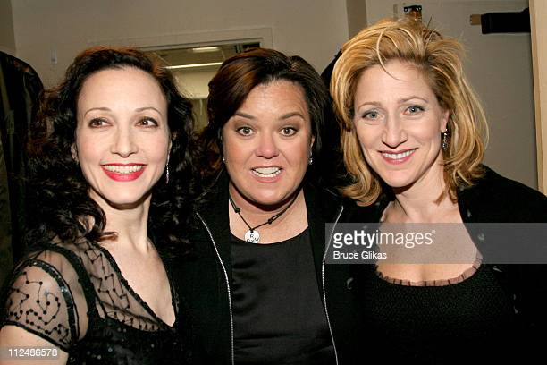 Bebe Neuwirth Rosie O'Donnell and Edie Falco during 'Nothing Like A Dame' 2005 Benefit at The Marquis Theater in New York City NY United States