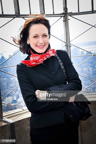 Bebe Neuwirth visits the Empire State Building to kick off National Eating Disorders Association's awareness campaign on February 25 2014 in New York...